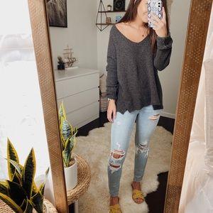 Gap Gray V-Neck Sweater